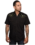 Flying Eyeball Mens Western Shirt